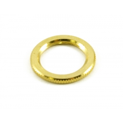 KNURLED DRESS NUT FOR SWITCHCRAFT® SWITCHES GOLD