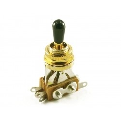 LP® TOGGLE SWITCH GOLD (3 PICKUP) BLACK TIP