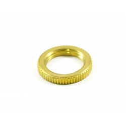 SWITCHCRAFT® KNURLED TOGGLE NUT GOLD
