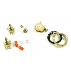 TELE® WIRING KIT 3 WAY SWITCH Solid Shaft pot