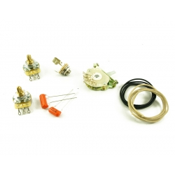 TELE® WIRING KIT 4 WAY SWITCH Solid Shaft Pot