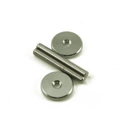 TUNEOMATIC SCREW & WHEEL CHROME PAIR