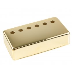 HUMBUCKER COVER SOLID NICKEL SILVER 49.2 SPACE GOLD PLATE