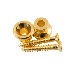 KLUSON® REPLACEMENT GIBSON STRAP BUTTON GOLD (1stk)