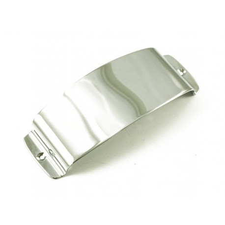 J BASS PICKUP COVER - ROUNDED SHAPE - CHROME