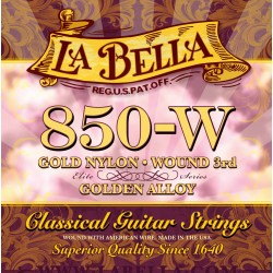 La Bella 850-W Golden Alloy 3rd Wound