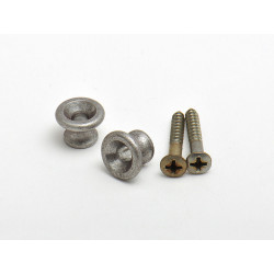 Relic G-Type Strap Knobs / Aged Aluminum