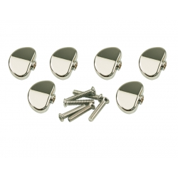 KLUSON® REPLACEMENT BUTTON SET 0F 6 (GROVER® SHAPE) CHROME