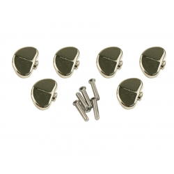 KLUSON® REPLACEMENT BUTTON SET 0F 6 (GROVER® SHAPE) NICKEL