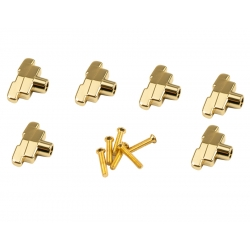 KLUSON® REPLACEMENT BUTTON SET 0F 6 (IMPERIAL SHAPE) GOLD