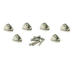 Button set (6 pcs) for Gotoh - metal keystone buttons Chrome