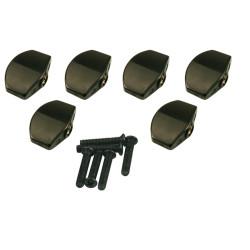 KLUSON® REPLACEMENT BUTTON SET 0F 6 (LARGE SCHALLER® SHAPE) BLAC