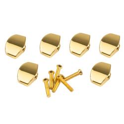 KLUSON® REPLACEMENT BUTTON SET 0F 6 (LARGE SCHALLER® SHAPE) GOLD