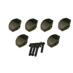 Button set (6 pcs) for Gotoh - Schaller mini style Black