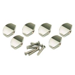 Button set (6 pcs) for Gotoh - Schaller mini style Chrome